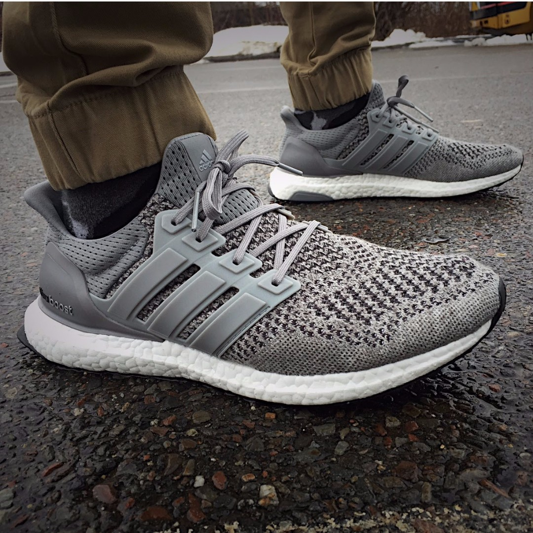7fb8e9888ed6a Adidas Ultra Boost 1.0 Wool Grey US 10