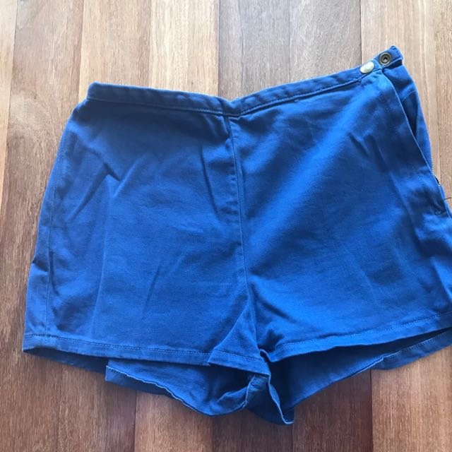 American Apparel High Waisted Navy Short Size 26/27
