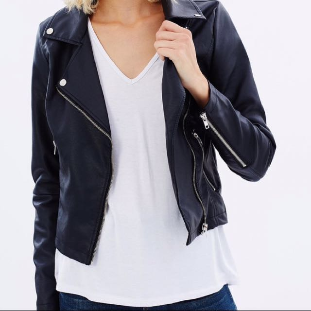 Atmos&Here Leather Jacket