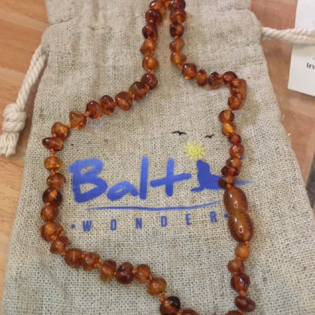 Authentic Baltic Amber Teething Necklace