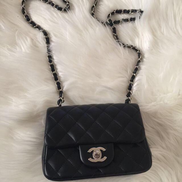 Authentic Chanel Classic Square Mini