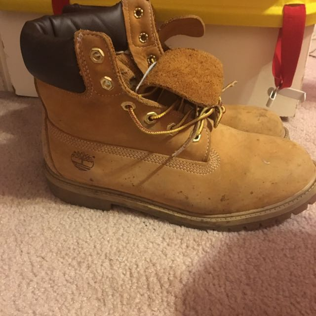 Authentic Original Brown Timberland Construction Boots