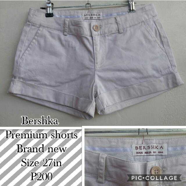 Bershka Premium Beige Shorts
