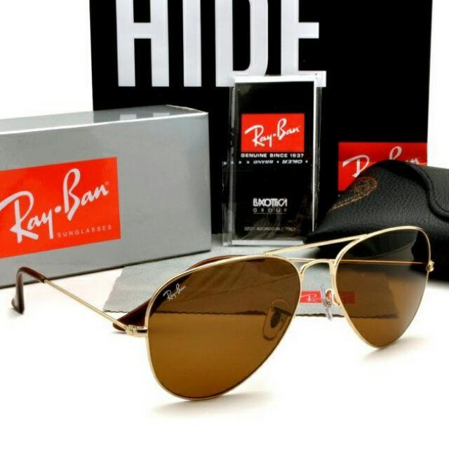 739b8f886577 Best Seller!!!Ray Ban Aviator RB3025 Gold Frame Brown Lens, Women's ...