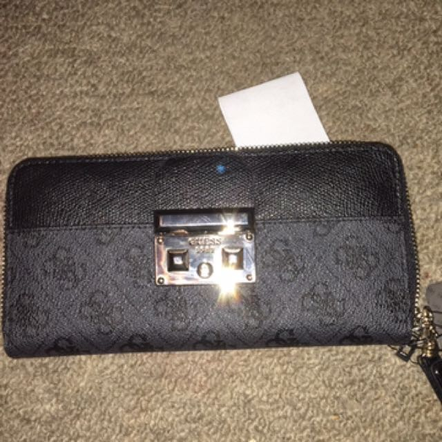 Black and Charcoal Guess Wallet