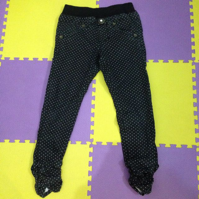 Black Polkadot Jeans Kids