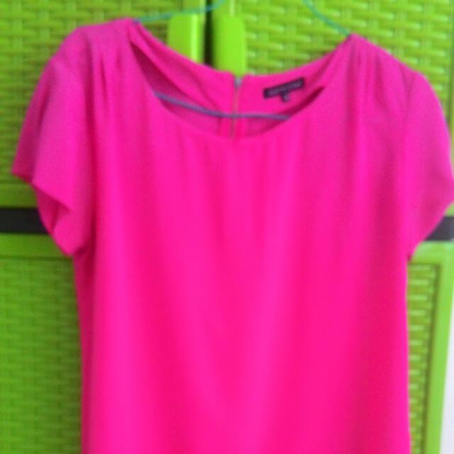 Blouse Shocking Pink M-L