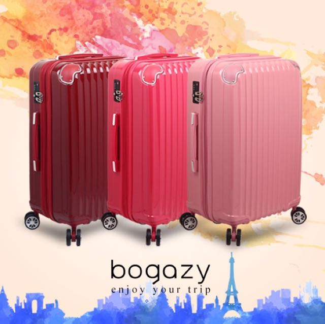 【Bogazy】愛戀巴黎 20吋PC鏡面可加大旅行箱(多色任選)