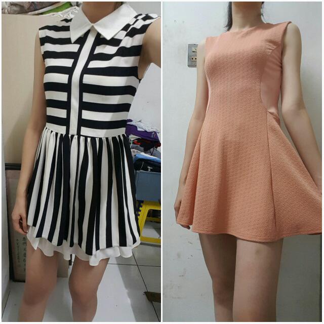 Borong 2pcs Dress Fit Size S to M
