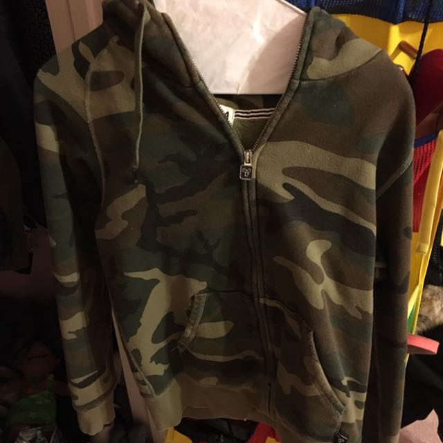 Camouflage/army Zip Up TNA hoodie From Aritzia