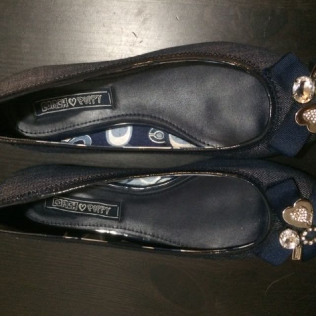 Coach denim Ballerina Flats
