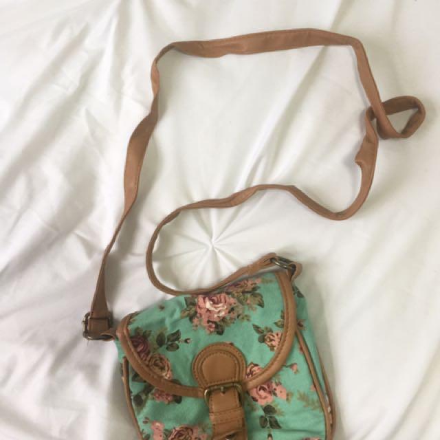 Cute Flower Print Bag