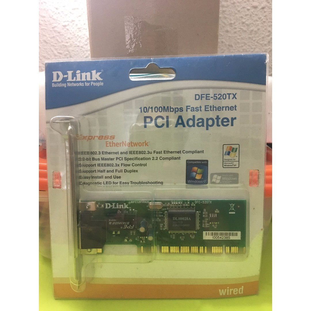 D-Link DFE-520TX 10/100Mbps PCI Network Adapter, Electronics, Computer Parts & Accessories on Carousell