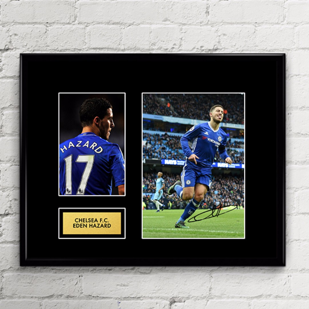 eden hazard chelsea fc autograph artwork design craft art