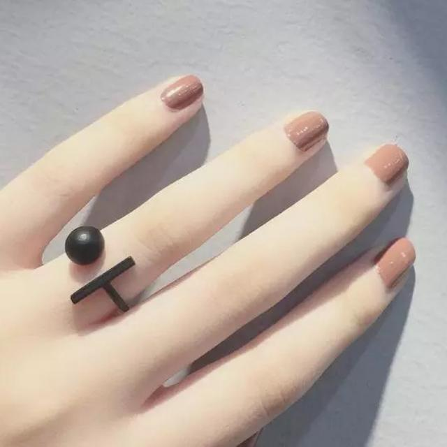 Heart Peace Symbol Sign Mark Over The Midi Tip Finger Above The Knuckle Ring