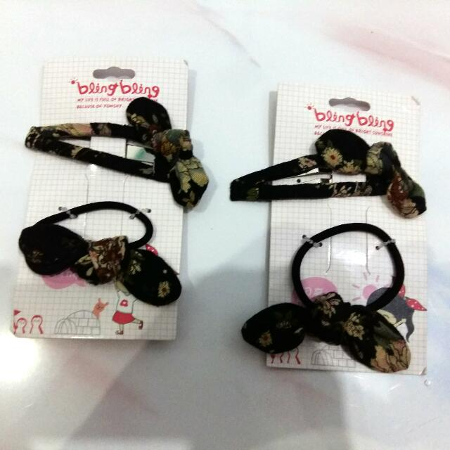 Floral Hairbands & Hairpin