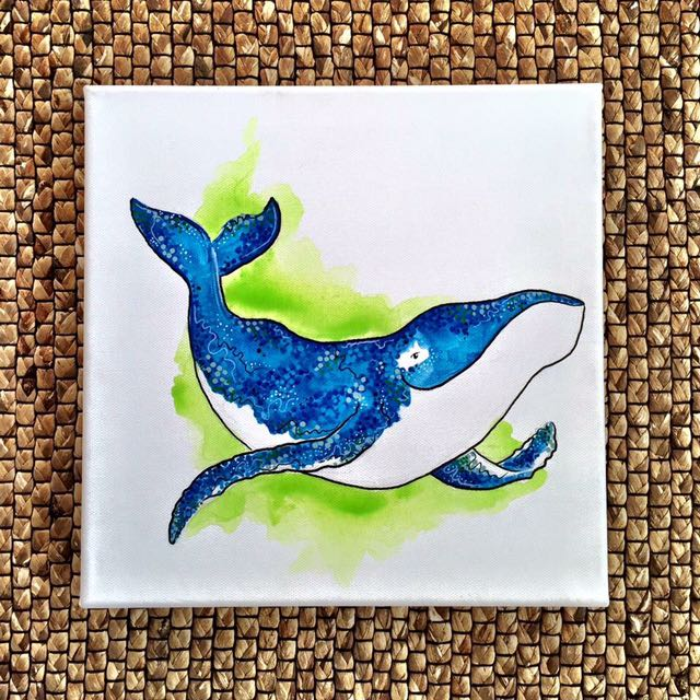 Happy Whale Painting