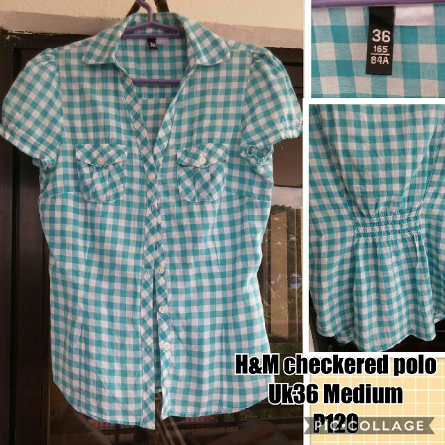 H&M Checkered Blouse
