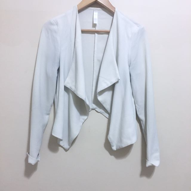 M For Mendocino Off White/white Crepe Blazer