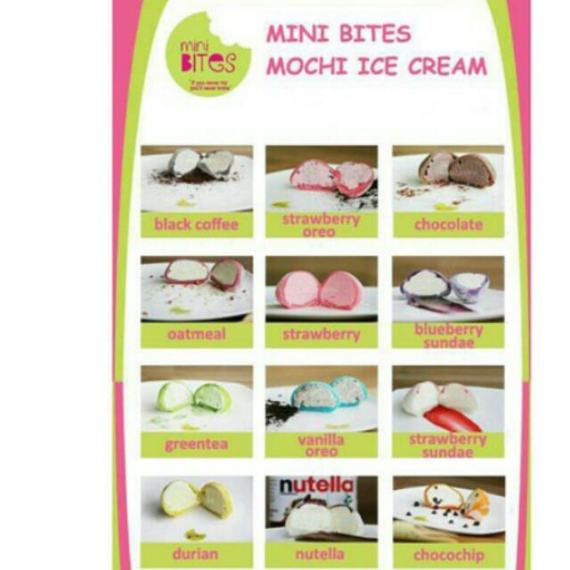 Minibites Mochi Ice Cream