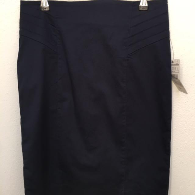 Navy Blue Zara Pencil Skirt Size Small