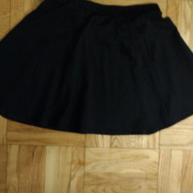 Navy Mini Skirt, Aline, 6