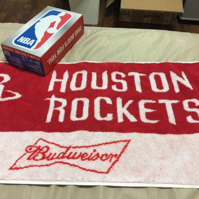 百威聯名NBA毛巾 火箭 全家活動