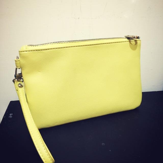 NET 黃色手拿包