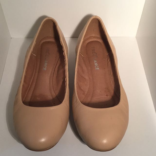 Nude Flats Leather Lining