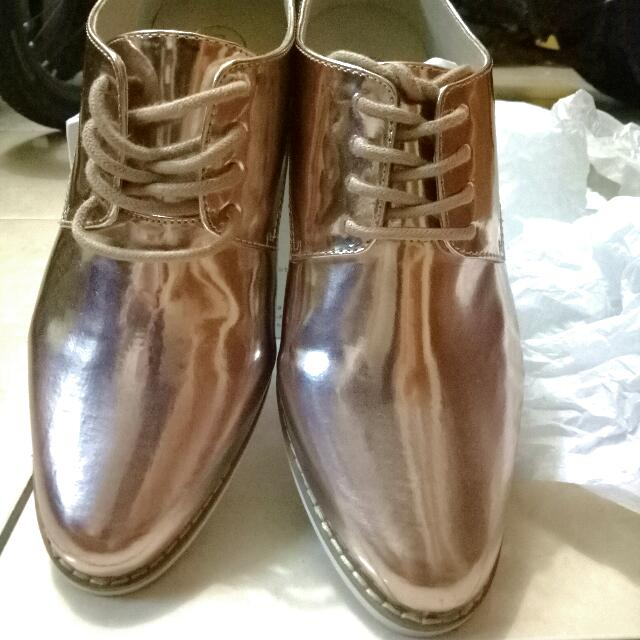Oxford Shoes Metalic