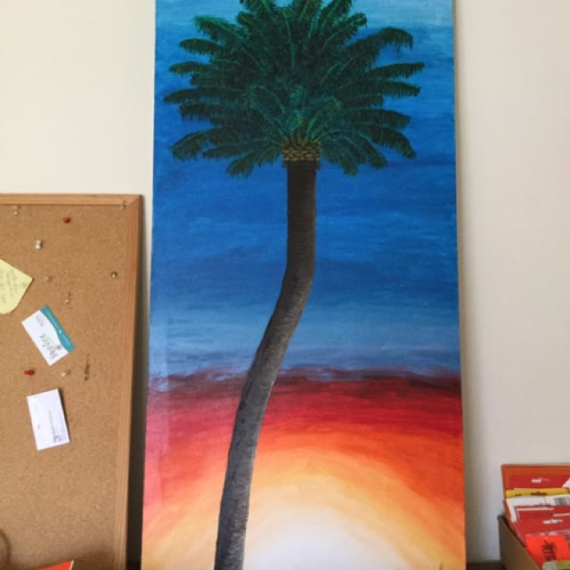 Palm Painting Oil On Canvas