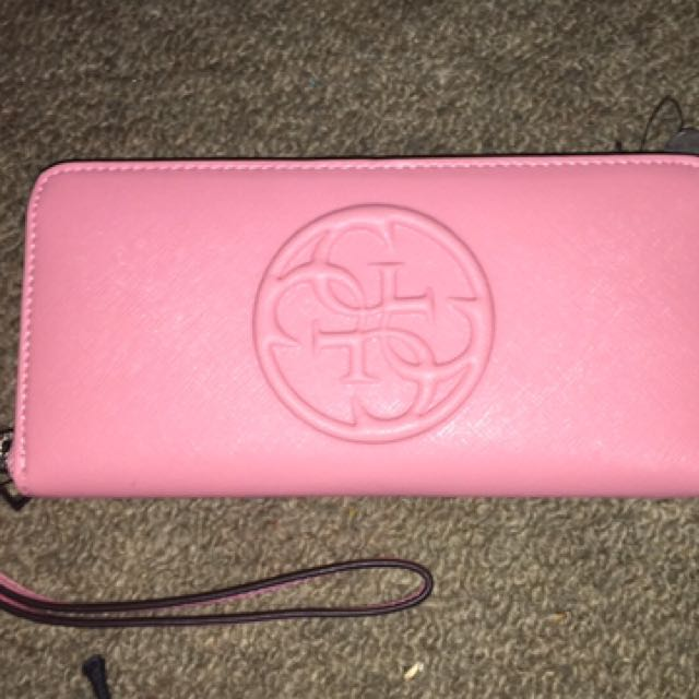 Pink Genuine Guess Wallet