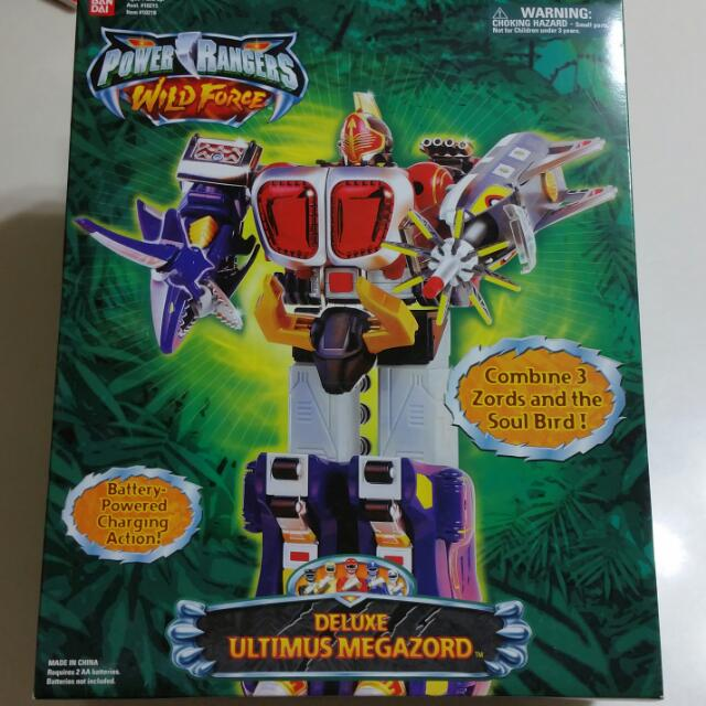 Power Rangers Wild Force Delux Ultimus Megazord Ultra RARE MIB