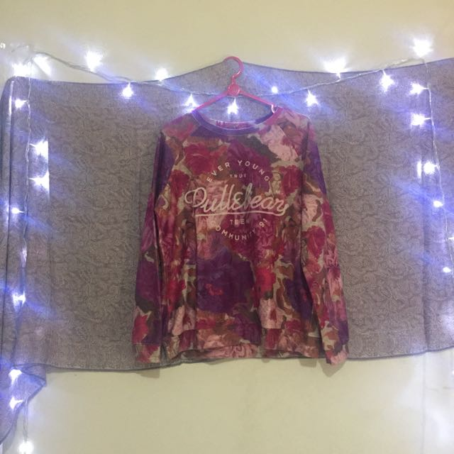 Pull And Bear Flower Sweater
