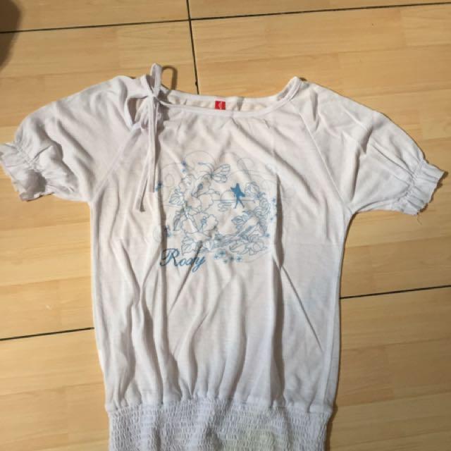 roxy white t shirt