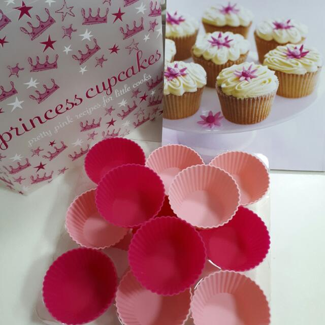 Silicone Princess Cupcake And Recipe Book By Hamlyn