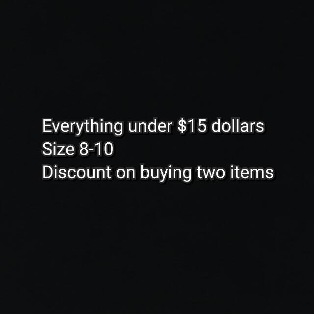 Size 8-10 clothes