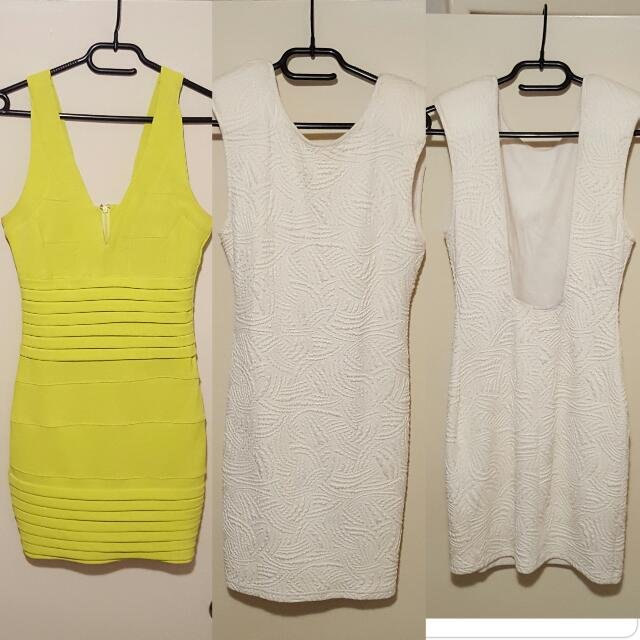 Size 8 Bodycon dresses $15 for both