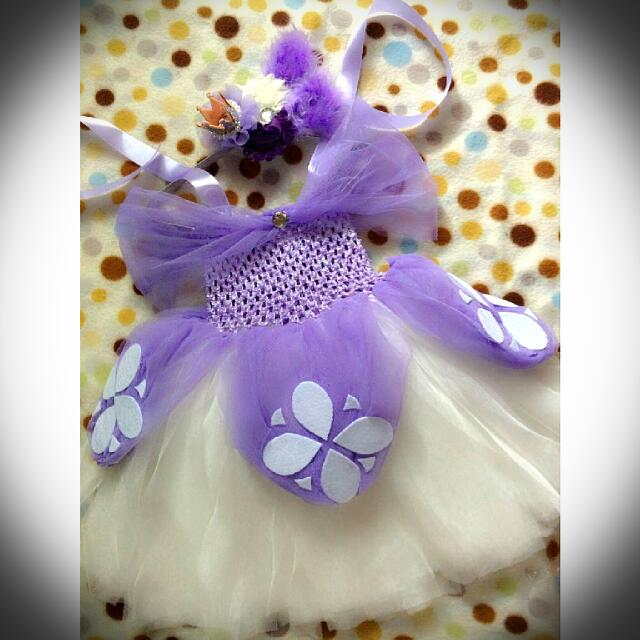 Sofia the First Tutu Dress, Babies & Kids, Girl\'s Apparel on Carousell