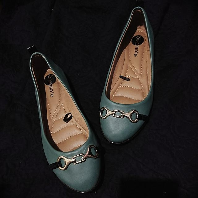 Soft Flat Shoes (In teal)