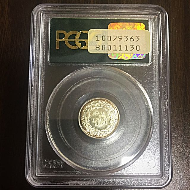 1934-B Switzerland 1/2 Half Franc Silver Coin PCGS MS66 Old Slab (Consignment)
