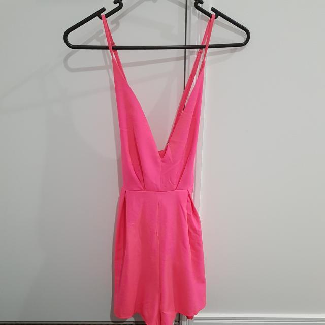 Sz 8 Fluro Pink Playsuit