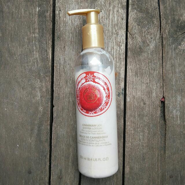 The Body Shop Cranberry Joy Shimmer Lotion 250ml