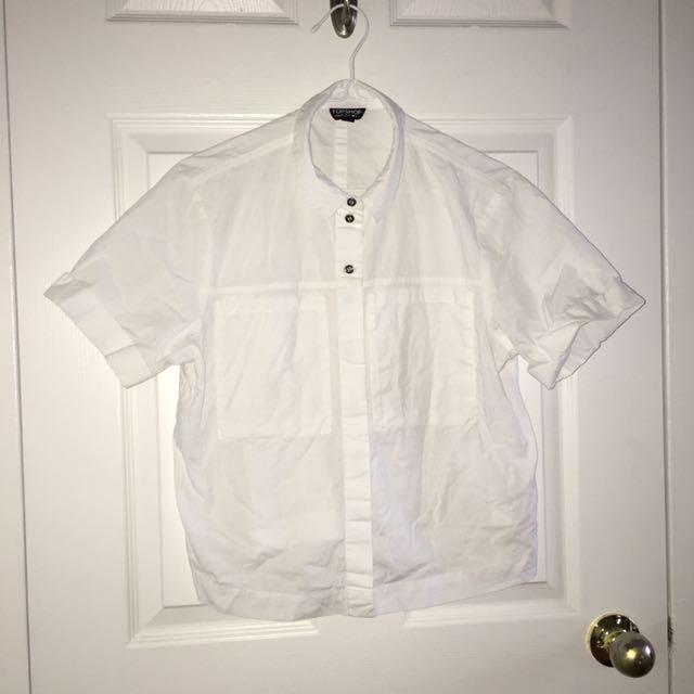 Topshop Button Up Short Sleeve Shirt