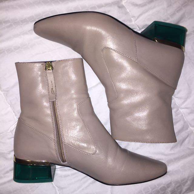 TOPSHOP Leather Sock Boots