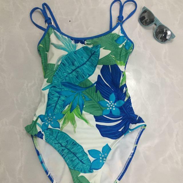 Tropical one piece swimwear