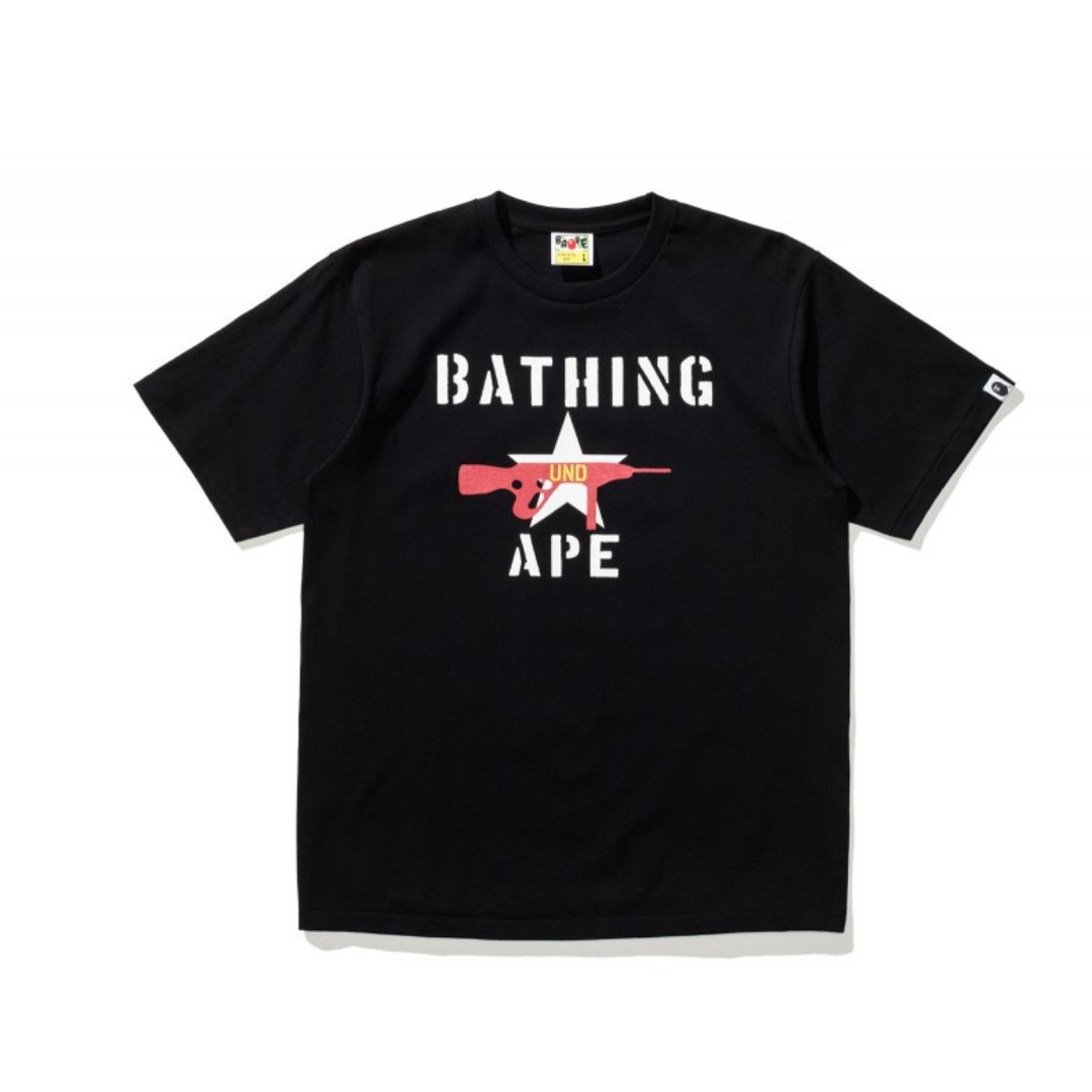 1764783f7 Undefeated x Bape Stencil Print T-shirt [Directly from Japan ...