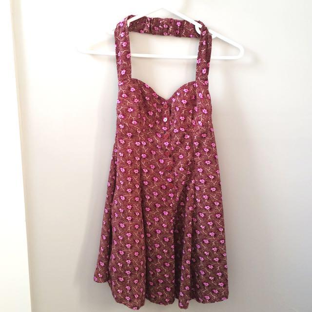 Vintage 70's Babydoll Floral Dress
