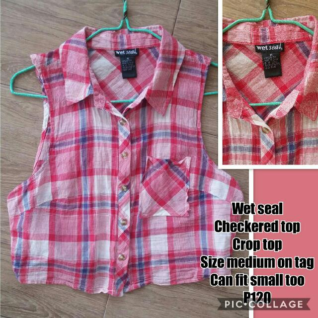 Wet Seal Checkered Crop Top