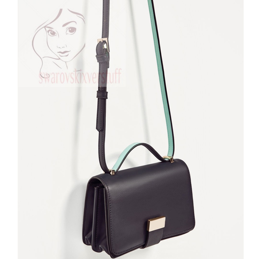 zara original two tone crossbody bag